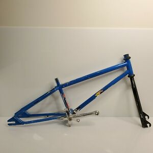 Rare Vintage 1992 GT Jr Pro Series 4130 BMX Frame & Fork Set Chrome Sugino USA