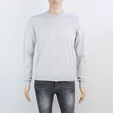 Topman Mens Size S Grey Round Neck Pullover Knit Jumper