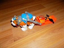 Fisher Price Rescue Heroes Saint St. Bernard Dog Figure with Orange Sled Mattel