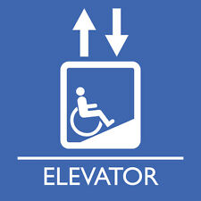 "Elevator Accessible Sign 8"" x  8"""