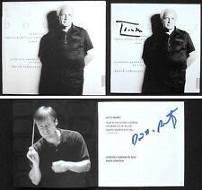 Pierre Boulez & David Robertson firmato norations rituel in memoriam MADERNA CD