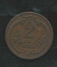AUSTRIA,  1906,  2 HELLER,  COPPER,  VERY FINE+,  KM#2801