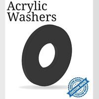 Acrylic 2mm Black Washers Circle Discs Laser Cut Perspex Various Sizes K&M