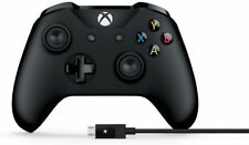 Microsoft 4N600001 Wireless Xbox Controller with PC Cable - Black