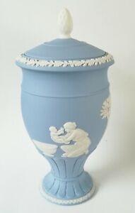 Wedgwood Blue Jasperware Achilles Urn Vase