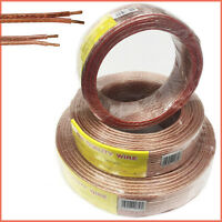 Twin Core Wire Copper Loud Speaker Cable Oxygen Free Quality 10/20/50/100M Wires