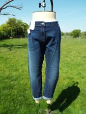 Dark Blue M&S COLLECTION Relaxed Skinny Stretch Denim Jeans Plus Size 22 M BNWT