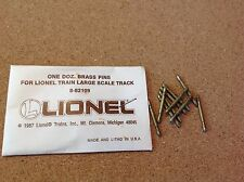 8-82109 Lionel G-Scale Brass Track Pin 12 Pack