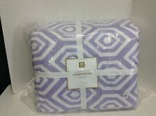 Pottery Barn Teen Diamond Pop Bed Comforter Quilt LAVENDER full queen f/q NEW