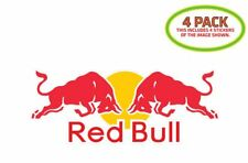 Red Bull Sticker Vinyl Decal 4 Pack