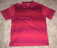 Nike Dri Fit Tiger Woods Collection Red Striped Polo Shirt Mens XL
