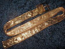 """Ladies Belt-Gold tone Metal Mesh-32""""x 1 1/8""""-1950's-60& #039;s-vintage"""