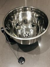 New Round Stainless Steel Small Sink 26cm Kitchen Caravan Boat Catering Trailer