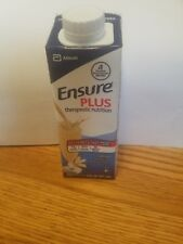Ensure Plus Therapeutic Nutrition Drink Vanilla 48 Cartons 8 OZ Each  Free ship