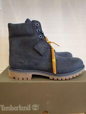 NEW TIMBERLAND 6-INCH PREMIUM WATERPROOF BOOTS BLUE NUBUCK FOR MEN