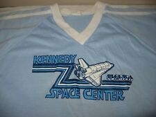 Vintage USED T-Shirt Kennedy Space Center Florida Space Shuttle Blue Size XL