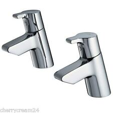 Ideal Standard B 0163 AA Cube Chrome Single Lever Pair of Bath Pillar Taps