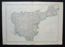 Antique Map: Devonshire (South) by Edward Weller, Weekly Dispatch Atlas, c 1860