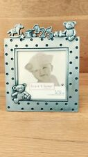 Connoisseur Metal Pewter Baby Picture Frame Teddy Bear Horse and ABC