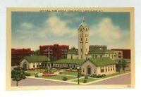 Long Beach Long Island New York City Hall Park Avenue Linen Vintage Postcard