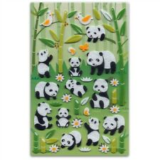 CUTE PANDA & BAMBOO FELT STICKERS Sheet Animal Kid Craft NEW Scrapbook Sticker