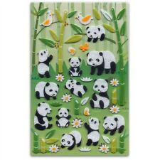 CUTE PANDA & BAMBOO FELT STICKERS Sheet Animal Kid Craft NEW Scrapbook Sticker