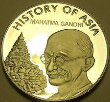 Gema Camafeo Prueba Cook Islas 2004 Dólar ~ Mohandas Ghandhi ~ Awesome