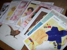 knitting patterns dolls  or baby plus needles 22 pairs this is a bargain