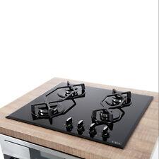 CDA HVG620BL 60CM Negro cuatro quemador de gas de control frontal en placa de cocina de vidrio