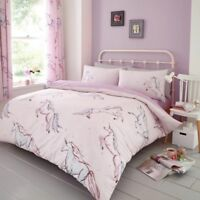 Star Unicorn Pattern Luxurious Duvet Cover Sets Reversible Bedding Sets by GC