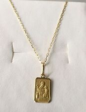 18k Yellow Gold St Anthony Necklace 19.68 in , 2.3 grams - Perfect image