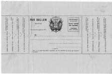 France 1870 Ballon Monte unused private stationery