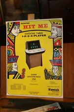 Vintage Ramtek Hit Me Poker Machine Flyer