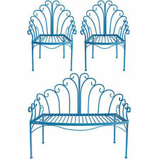 Wire Child's Love Seat & Chair Set Blue - D36431Blue
