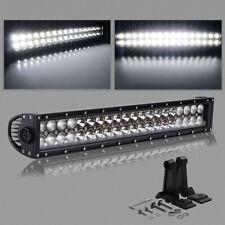 "22/24"" Dual Row Straight LED Light Bar Driving SUV Offroad Bar Spot Flood Combo"