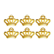 45pcs Gold Vintage Alloy King Crown Pendant Charms 09671