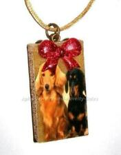 DACHSHUND DOGS (DOG COUPLE) CHRISTMAS ORNAMENT~~~HANDCRAFTED!~NEW!