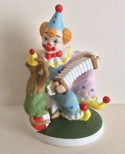 Lefton China - Clown w/ Accordion and Monkey #07555 - Hand Painted 1990