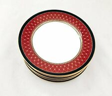 "FITZ & FLOYD ""CHAUMONT"" BURGUNDY DESSERT PLATES 6 1/2"", 3 SOLD INDIVIDUALLY"