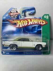 Hot Wheels '70 Plymouth Road Runner T-Hunt ULTRA RARE SHORT CARD XHTF