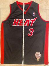 Dwayne Wade 2XL XXL Mitchell & Ness Miami Heat Basketball Jersey 52