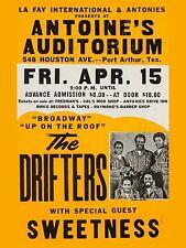 "The Drifters Port Arthur Texas 16"" x 12"" Photo Repro Concert Poster"