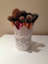 Make Up Brush Holder Pot White / Candle Holder / Stationary Holder