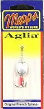 Big Rock, 2 Pack, Mepps Aglia, 1/8 OZ, Silver, Spinner With Treble Hook