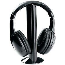 NAXA PROFESSIONAL 5 in 1 WIRELESS CORDLESS HEADPHONE HEAPHONES SYSTEM NE-922 NEW