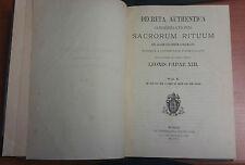 LIBRO DECRETA AUTHENTICA SACRORUM RITUUM LEONIS PAPAE XIII PAPA LEONE XIII VOL 1