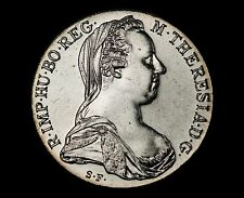 (1780)-SF Maria Theresa Thaler Silver Restrike - BEAUTIFUL UNCIRCULATED EXAMPLE