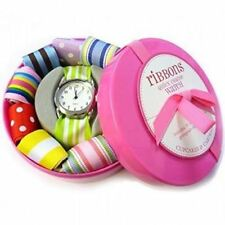 Ribbon Watch 11 Interchangeable Straps Girl's Wrist Watch in Gift Box