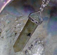 Unbehandelte Echte Edelstein-Halsketten & -Anhänger aus Sterlingsilber mit Labradorit