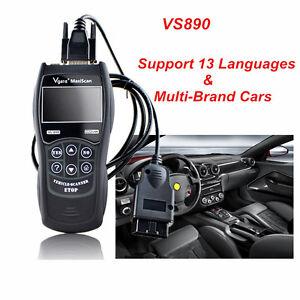Universal ALL Car Fault Reader Code Scanner Diagnostic Tool OBD2 CAN RESET VS890